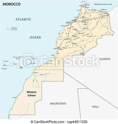 Kungarike Karta Vag Marocko