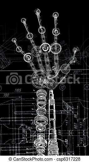 Kunstbild der menschlichen Hand - csp6317228