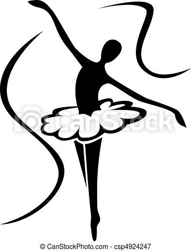 kunst, ballett, silhouette - csp4924247