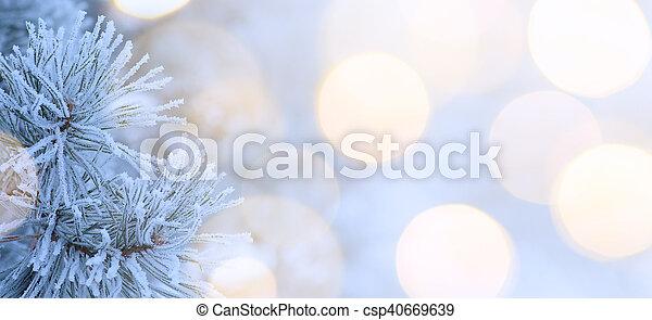 kunst, boompje, kerstmislicht - csp40669639
