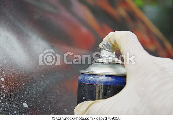 kunst, hand, verpulveren - csp73769258