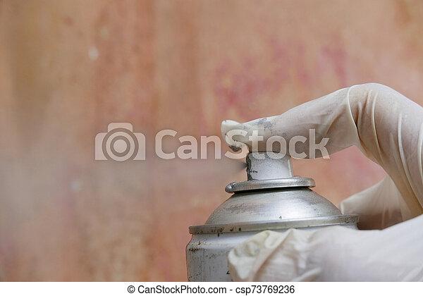 kunst, hand, verpulveren - csp73769236