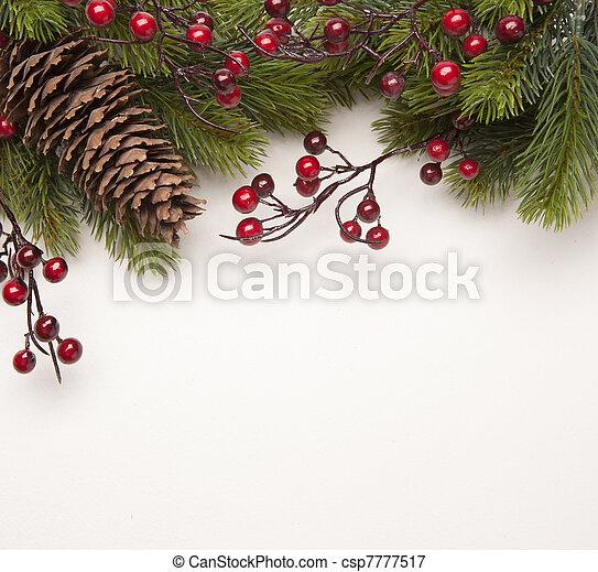 kunst, kerstmis kaart, groet - csp7777517