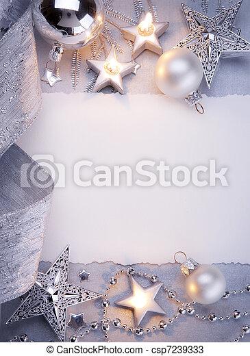 kunst, kerstmis kaart, groet - csp7239333