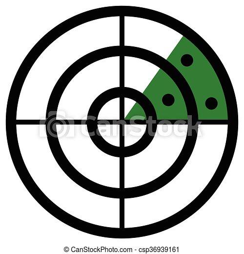 Kunst Klammer Targets Schirm Symbol Radar Icon