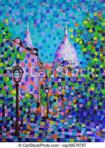 Gemälde Kunst kunst frankreich straße gemälde montmartre stockfotos