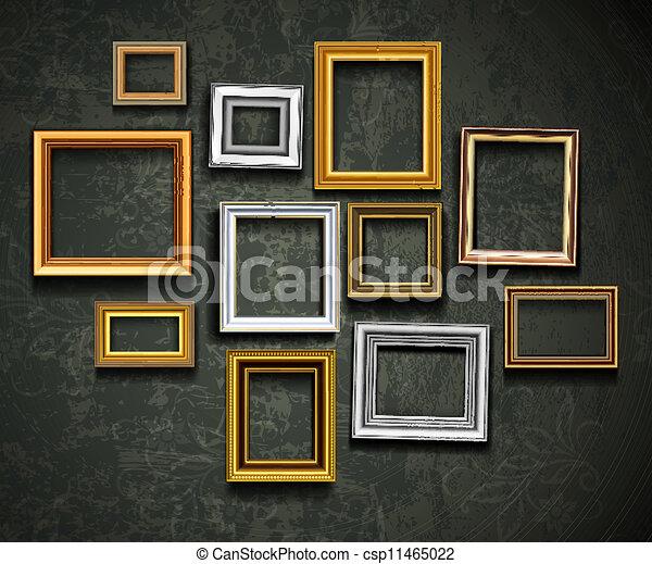 kunst, ph, vector., fotolijst, gallery., foto - csp11465022