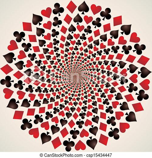 kunst, suit., kaarten., speelkaart, op - csp15434447