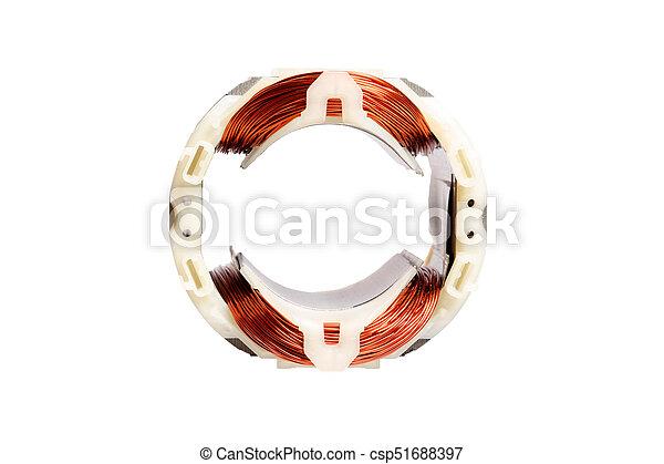 Kupfer draht, elektrisch, rotor, magnetisch, motor, vorrichtung ...