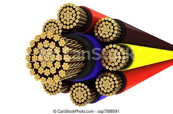 Kupfer elektrisch kabel Illustrationen und Clip-Art. 761 Kupfer ...