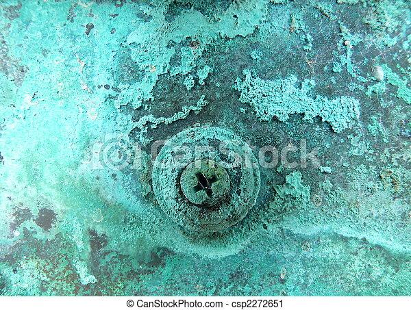 Kupfer Rost kupfer korrosion metall makro korrosion metall kupfer