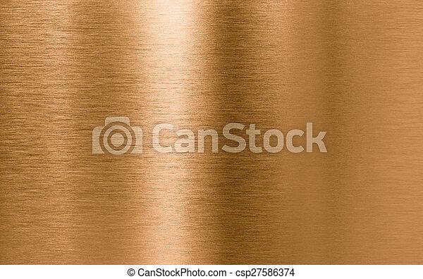 Bronze oder Kupfer-Metall-Struktur Hintergrund - csp27586374