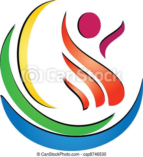 kurbad, figur, logo - csp8746530
