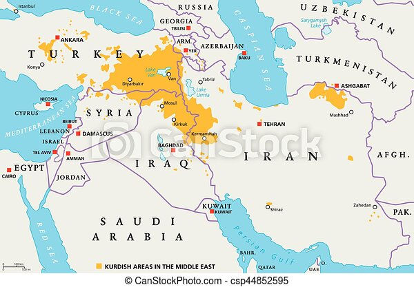 Kurdish areas in the middle east political map countries eps kurdish areas in the middle east political map csp44852595 sciox Image collections
