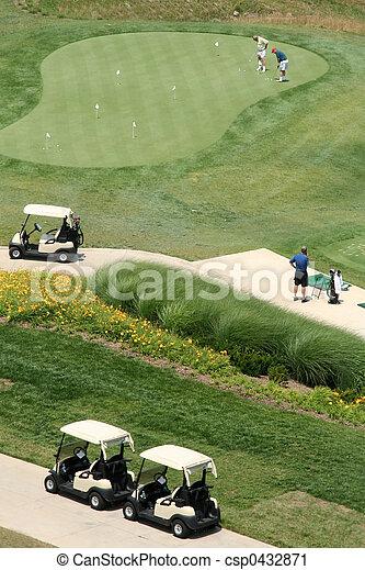 kurs, antenne, golf, udsigter - csp0432871