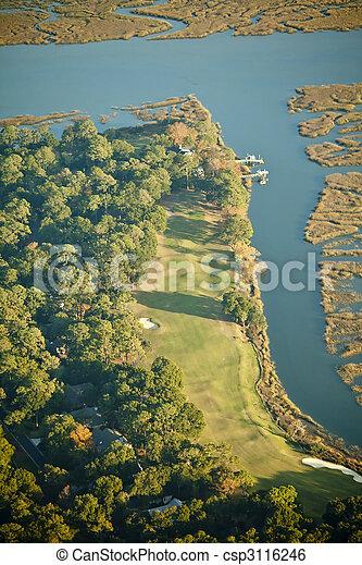 kurs, antenne, golf, udsigter - csp3116246