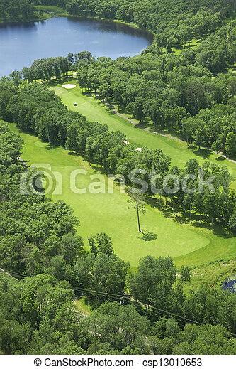 kurs, antenne, golf, udsigter - csp13010653