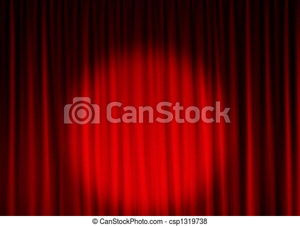 kurtyna, teatr, tło - csp1319738