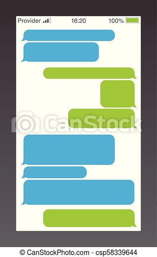 kurz, service, text, sms, boxes., bubbles., bubles, bote, unterhaltung, messaging, nachricht, template., leerer  - csp58339644