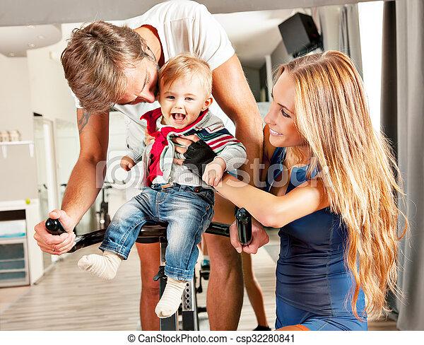 kute baby family parent care - csp32280841