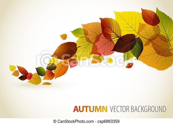 květinový, abstraktní, grafické pozadí, podzim - csp6863359