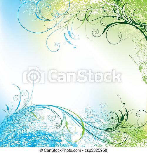 květinový, grafické pozadí - csp3325958