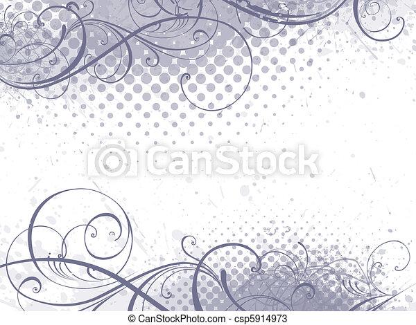 květinový, grafické pozadí - csp5914973