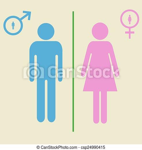 mand kvinde tegn