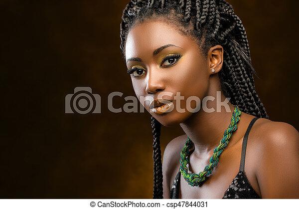 Vackra ebenholts kvinnor