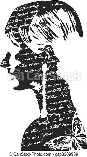 kvinna, design, illustration - csp3309939