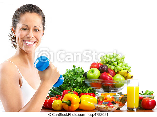 kvinna, fitness - csp4782081