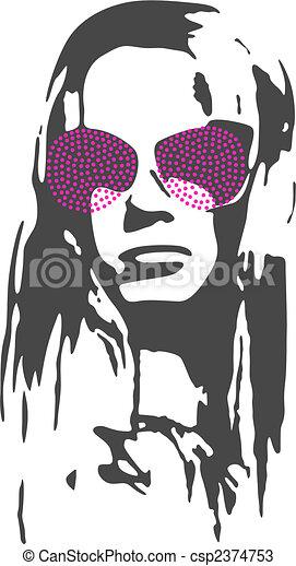 kvinna, inbillning, illustration - csp2374753