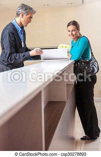 kvinna möte