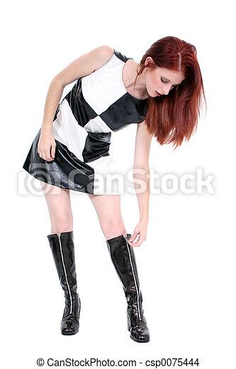 kvinna, mode - csp0075444