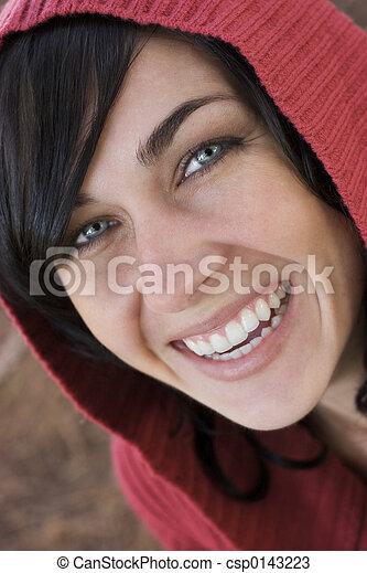kvinna, skratta - csp0143223