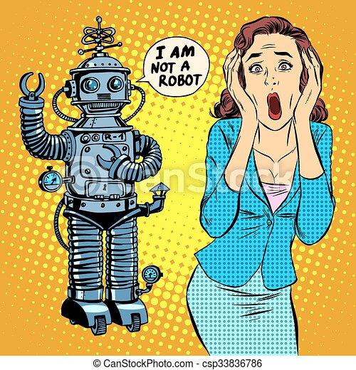 Tecknad robot kön