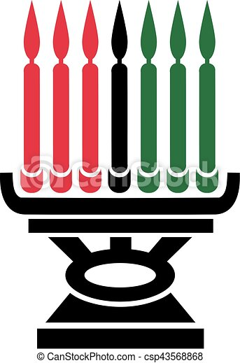 kwanzaa candleholder clip art vector search drawings and graphics rh canstockphoto com kwanzaa candles clipart kwanzaa food clipart