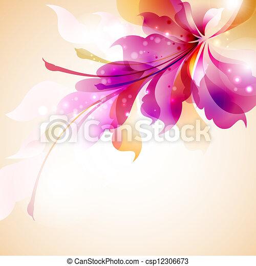 kwiat, abstrakcyjny - csp12306673