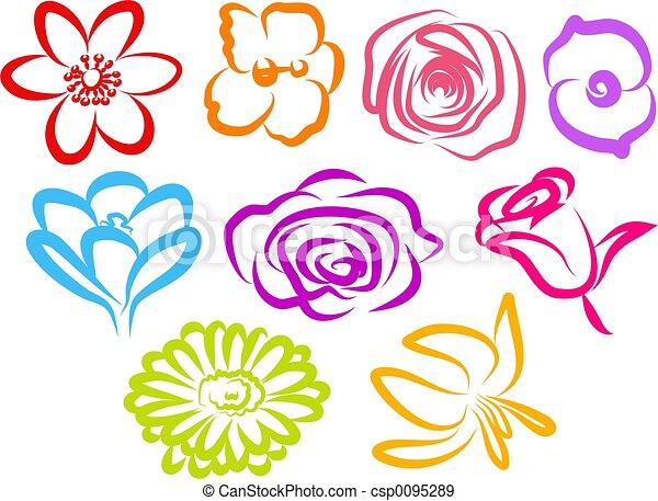 kwiat, ikony - csp0095289