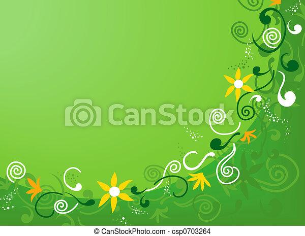 kwiatowy, abstrakcyjny, tło - csp0703264