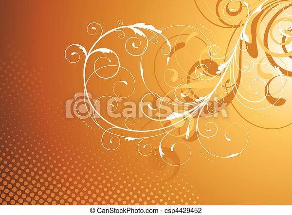 kwiatowy, dekoracyjny, tło - csp4429452