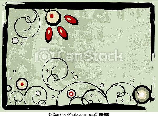 kwiatowy, grunge - csp3196488