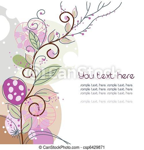kwiatowy, tło - csp6429871