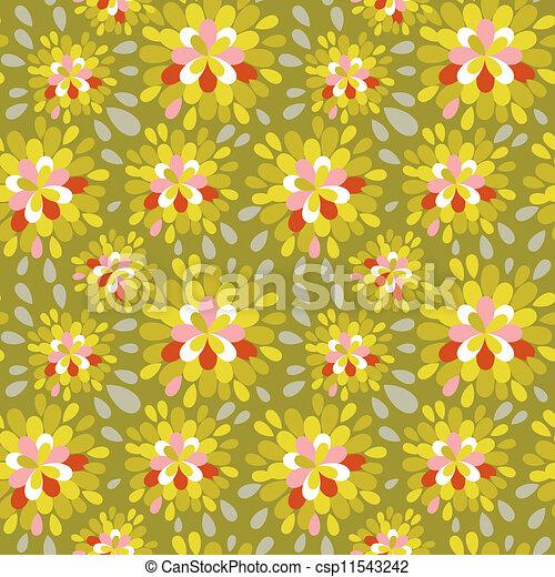 kwiatowy wzór, abstrakcyjny - csp11543242