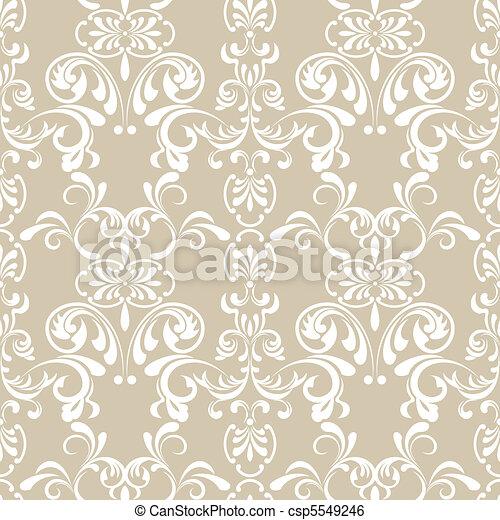 kwiatowy wzór, seamless - csp5549246