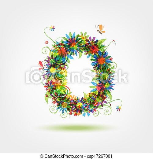 kwiatowy, zero, projektować, liczba, twój - csp17267001