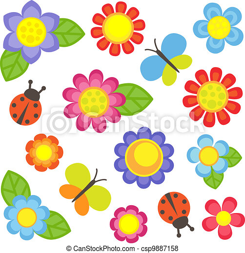 kwiaty, komplet - csp9887158
