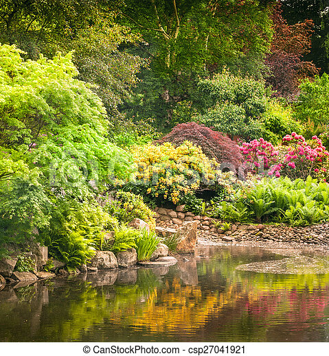 kwiaty, ogród, pełny - csp27041921
