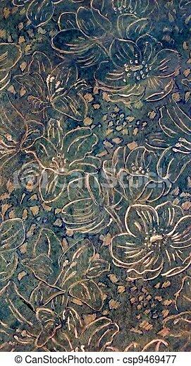 kwiaty, tło, srebro - csp9469477