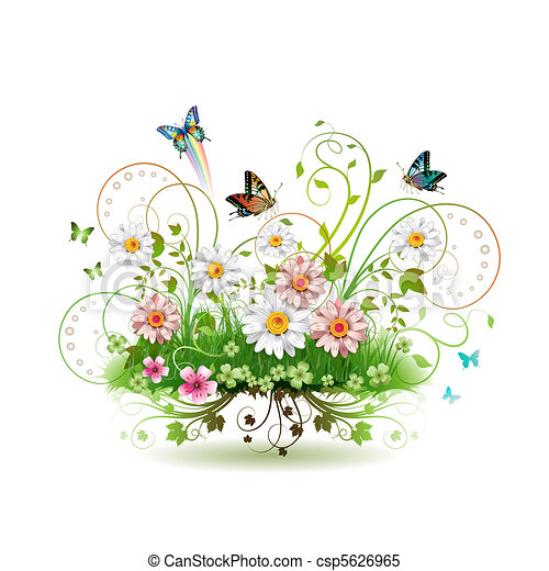 kwiaty, trawa - csp5626965